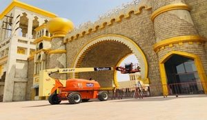 boom lift hire at Global village Dubai